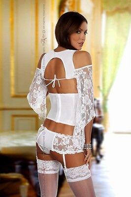 Beauty Night Fashion Dessous Kimono Top Unterbrust Corsage Strumpfhalter neu Hot 3
