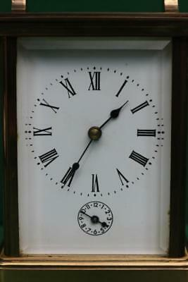 Vintage French 8 Day Grande Striking Alarm Carriage Clock 2