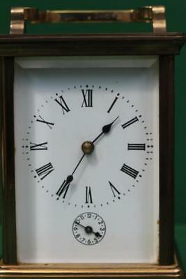Vintage French 8 Day Grande Striking Alarm Carriage Clock 3