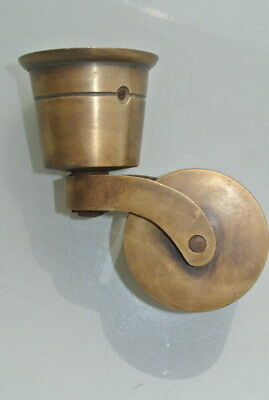 4 big CUP solid Brass foot castors wheel chairs table old antique style castor B 7