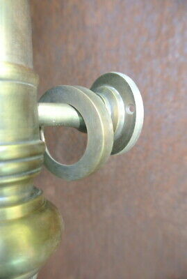 """large DOOR handle pulls solid SPUN hollow brass vintage aged old style 19 """" B 10"""