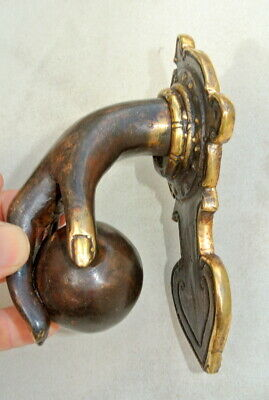 hand fist ball front Door Knocker fingers solid brass hollow 16 cm old style B 7