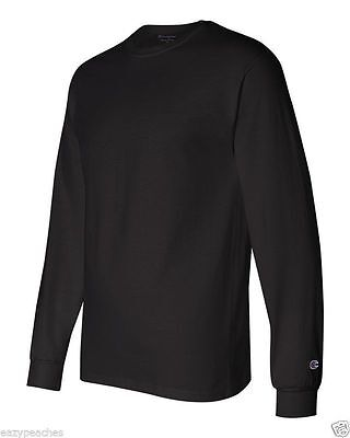 Champion NEW CC8C Mens Size S-2XL Long Sleeve Tagless Cotton Gym Workout T-Shirt 2
