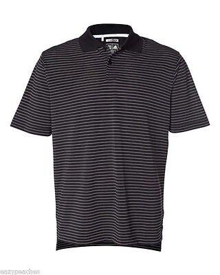 ADIDAS GOLF - Men's ClimaLite Tech, Cool Pencil Stripe Polo Sport Shirt, A60 A16 7