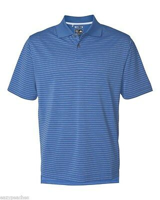ADIDAS GOLF - Men's ClimaLite Tech, Cool Pencil Stripe Polo Sport Shirt, A60 A16 3