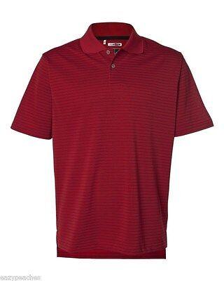 ADIDAS GOLF - Men's ClimaLite Tech, Cool Pencil Stripe Polo Sport Shirt, A60 A16 4
