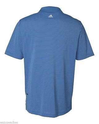 ADIDAS GOLF - Men's ClimaLite Tech, Cool Pencil Stripe Polo Sport Shirt, A60 A16 9