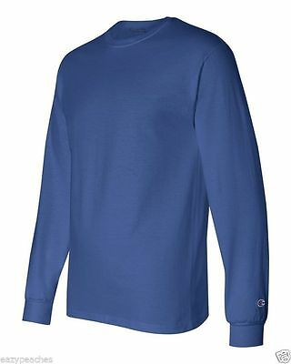 Champion NEW CC8C Mens Size S-2XL Long Sleeve Tagless Cotton Gym Workout T-Shirt 6