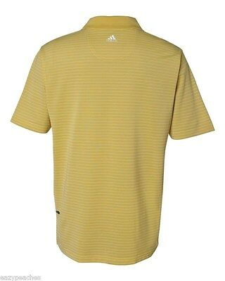 ADIDAS GOLF - Men's ClimaLite Tech, Cool Pencil Stripe Polo Sport Shirt, A60 A16 11