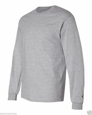 Champion NEW CC8C Mens Size S-2XL Long Sleeve Tagless Cotton Gym Workout T-Shirt 4