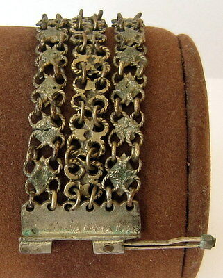 ANTIQUE 1800 s. SILVER KNITTED THREE ROWS LADY BRACELET  #  75A 9