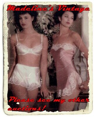 Vintage Black 100% Nylon High Waist Brief Bikini Granny Panties Sz Xl 8/9 Sissy 7