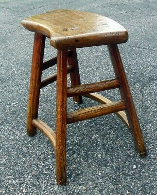 Antique Chinese Chestnut Bench Table Chair 18-19th C. Curved Seat 3