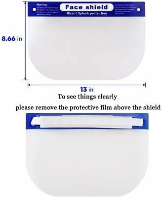Face Shield Cover Anti-Fog Full Safety Reusable Visor Eye Head Protector 4 Pack 2
