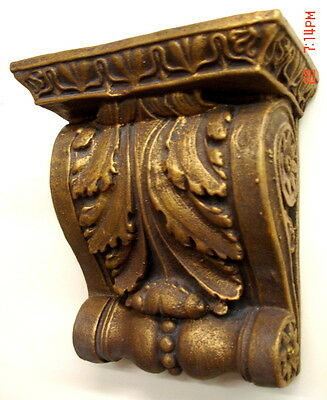 Gold Finish Shelf Acanthus leaf plaster Wall Corbel Sconce Bracket Home Decor 3