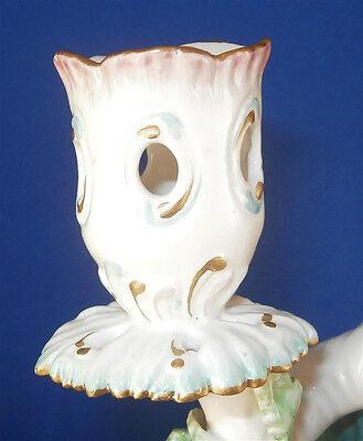 Antique 18thC Derby Porcelain Figural Lady Candlestick Porzellan Kerzenhalter 3