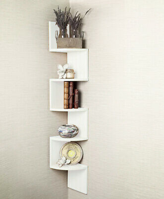 2/3/ 5 Tier Floating Wall Shelves Corner Shelf Storage Display Bookcase 2