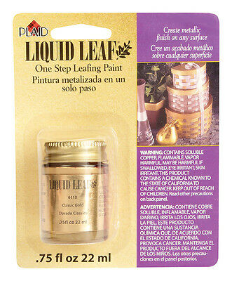 Liquid Leaf Craft Paint, Choose Classic Gold , Florentine Gold, Silver, Brass 2