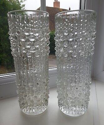 Frantisek Peceny Retro Art Glass Vintage Sklo Union Candle Wax Glass Vase Bohemian/czech