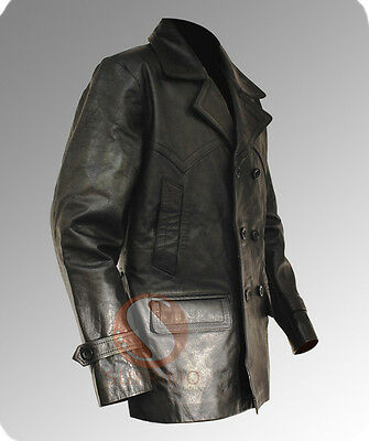 DR WHO Christopher Eccleston German WWII Style Pea Coat