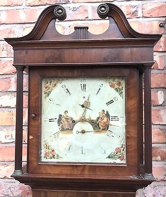 Antique 8 Day Mahogany Longcase Grandfather Clock J. BEECROFT LITTLE LEIGH 2