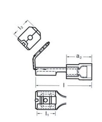 1mm² Flachsteckhülsen Flachstecker Rot Breite:6,3mm Dicke 0,8mm Nenngröße