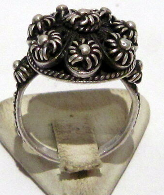Amazing Post-Medieval Silver Ring With Beautiful Filigree  # 395 2