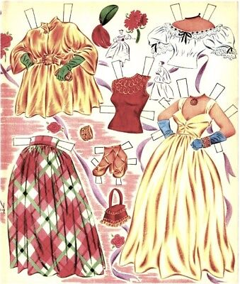 VINTAGE UNCUT 1954 PERT N PETTY PAPER DOLLS ~HD LASER REPRODUCTION~LO PRICE~
