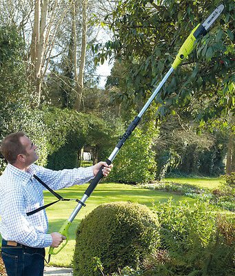 Telescopic Pole Chainsaw Long Reach Electric Tree Pruner Trimmer Branch Cutter 6