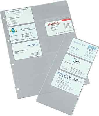 Visitenkarten Schutzhüllen Hochtransparent 56 X 86 50 St 16