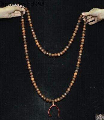 "36"" China Buddhism carved Buddha Bead Prayer beads Amulet Necklace 4"