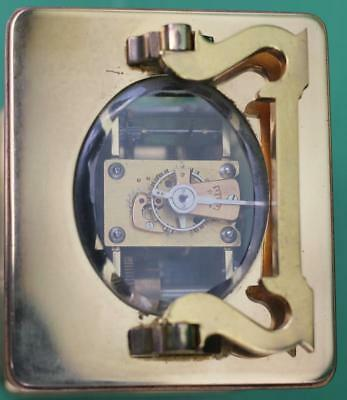 Vintage French 8 Day Grande Striking Alarm Carriage Clock 4