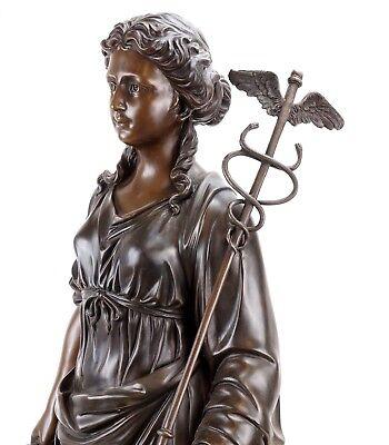 Griega Mitología Estatua de Bronce - Hygieia Diosa de la Salud- Limitada 3