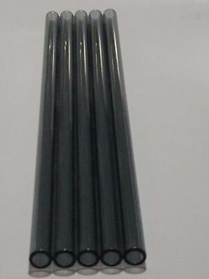 Borosilicate Glass Tubing Straws 12mm OD Purple Pink Black Colors Pyrex Tubes 7