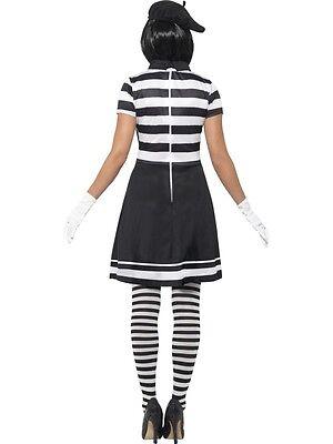 0be1047769 ... Donna Mimo Artista Costume da Donna Francese Mimo da Smiffys Nuovo 3