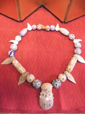 Phoenician Style Glass bead Necklace 2