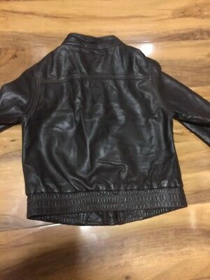 Gap Girls Real Leather Jacket Aged 4-7 Years Old 7