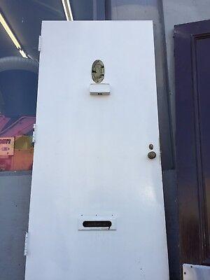 "Front door Old 80""x35-3/4"" With Hardware"