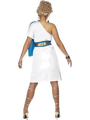 Roman Beauty Costume Womens Ladies Toga Venus Greecian Godess Fancy Dress Outfit