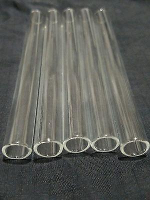 "Borosilicate Glass Tubing 10mm OD 8mm ID 1mm Wall Pyrex Tubes 11-11.5"" 8"" 6"" 4"" 3"