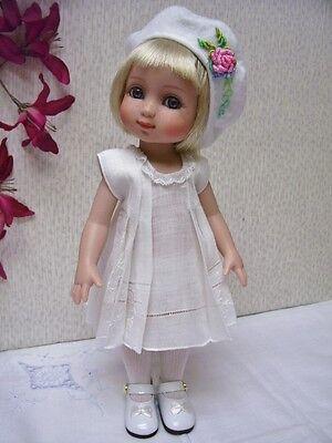 """Hanky Dress, Hat  PATTERN for 10"""" to 16"""" Dolls  Little Darling,  Bleuette, 3"""