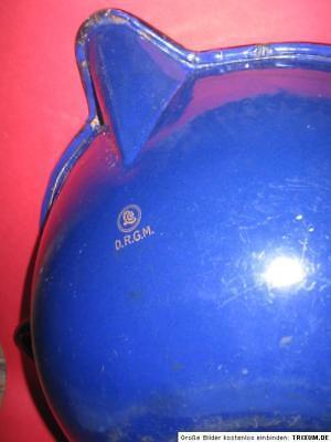 15474 Emaille Sudpfanne  Apotheke Apotheker Schüssel Pharmacy pan enamel blue