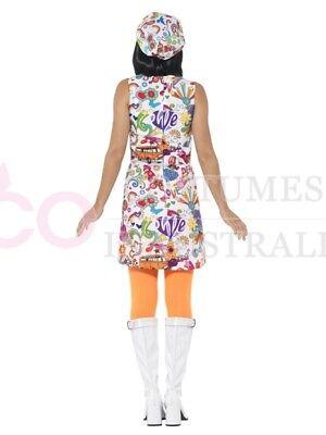 CL204 Rainbow Hippie 1960s Disco 1970s Retro Groovy Go Go Dance Party Costume
