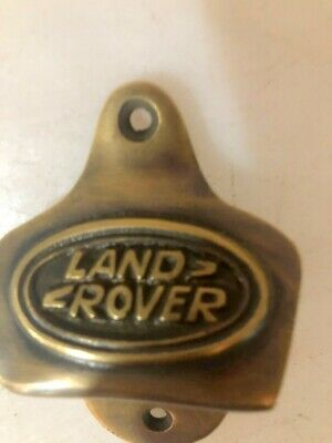 LAND ROVER car wall Bottle Opener solid pure brass works screw heavy B 7