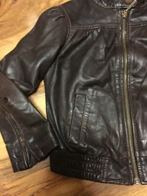 Gap Girls Real Leather Jacket Aged 4-7 Years Old 3