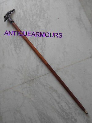 Aluminum Handle Wooden Walking Stick Strong Rosewood Stick Hand crafted Wooden 4 • CAD $39.06