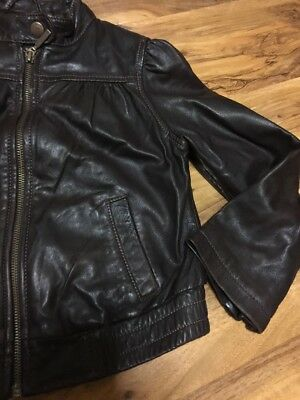 Gap Girls Real Leather Jacket Aged 4-7 Years Old 4