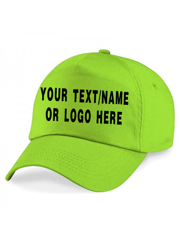 Personalised baseball caps Customised Adults unisex Printed Caps Hats Text/Logo 4