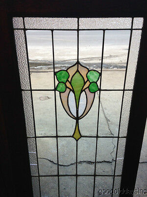 """Antique Chicago Stained Leaded Glass Cabinet Door / Window 48"""" by 20"""" 7"""