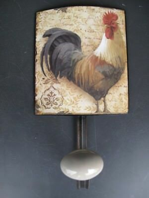 Wall Hook Rooster Wardrobe Shield Iron H.21x12cm Vintage Aesthetics Home Gift 2